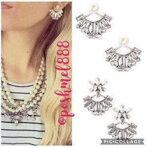 ::S&D [V] 4in1 Starburst Ear Jacket Pearl Earrings